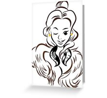 Beauty and the Pelt Greeting Card