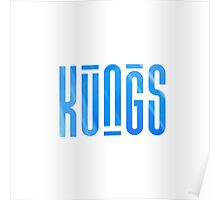 KUNGS BLUE CRYSTAL Poster