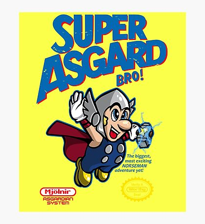 Super Asgard Bro! Photographic Print