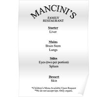 Mancini's Menu from Doctor Who Poster