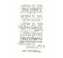 Shel Silverstein Art Print