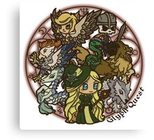 Cute Monsters Canvas Print