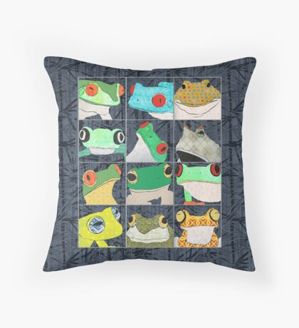 Frogs Throw Pillow
