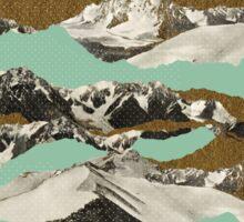 Golden Zugspitze // Turquoise Sticker