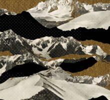 Golden Zugspitze // Black Sticker
