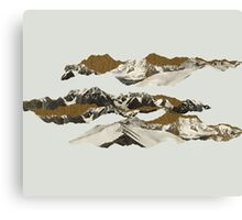 Golden Zugspitze // White Canvas Print