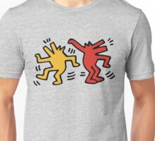 Keith haring dancing dog Unisex T-Shirt