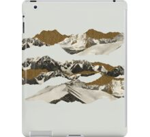 Golden Zugspitze // White iPad Case/Skin