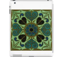 Green abstract pillow iPad Case/Skin
