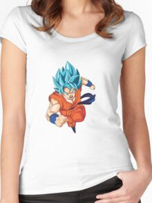 Dragonball Super - Goku - Super Saiyan God Women's Fitted Scoop T-Shirt