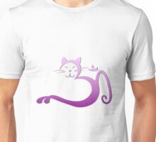 Om Kitty - Purple Fade on Mist Unisex T-Shirt