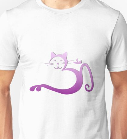 Om Kitty - Purple Fade on Mist Unisex T-Shirt