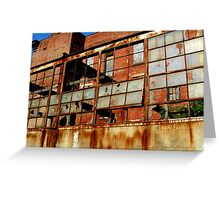 Rusty Building in Cincinnati Greeting Card