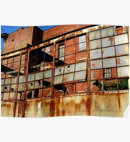 Rusty Building in Cincinnati Poster