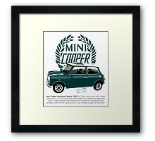 Classic 1990 Mini Cooper Special green Framed Print