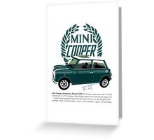 Classic 1990 Mini Cooper Special green Greeting Card
