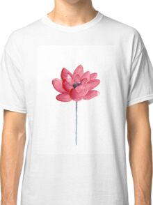 Lotus Abstract Flower Watercolor Meditation Yoga Illustration Poster Classic T-Shirt