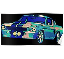 Shelby Mustang Pop Art Poster