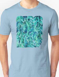 Split Leaf Philodendron – Teal Unisex T-Shirt
