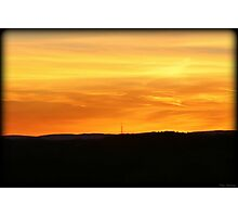 Fire Sky Tower Photographic Print
