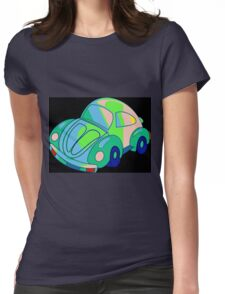 Flower Power Beetle Womens Fitted T-Shirt