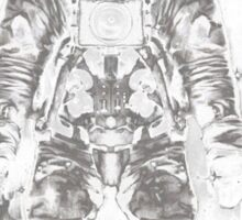 music astronaut in galaxy Sticker