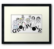 Grouplove  - Boarderlines and Aliens Framed Print