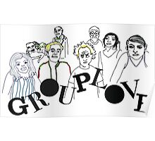 Grouplove  - Boarderlines and Aliens Poster