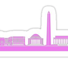 Pink DC Skyline Sticker