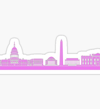 Pink DC Skyline Sticker