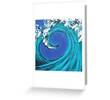 Waves Collide Greeting Card