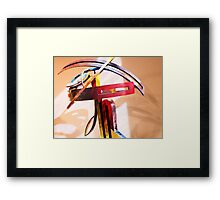Metal Curves in Colours Framed Print