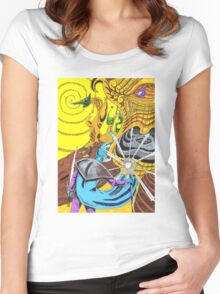 The Blue Wizard Women's Fitted Scoop T-Shirt