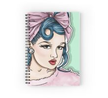 Lacey Noel by Kevin Cakebread Pink Lady Spiral Notebook