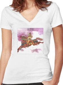 Budgie Band Women's Fitted V-Neck T-Shirt