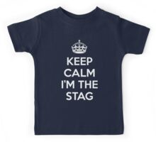 Keep Calm Stag Quote Kids Tee