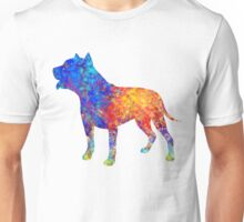 Pit Bull Dog Watercolor Art Unisex T-Shirt