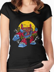 Boom Box Robot Women's Fitted Scoop T-Shirt