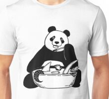 Panda and soup Unisex T-Shirt