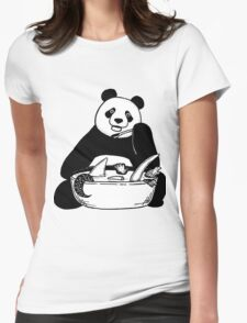 Panda and soup Womens Fitted T-Shirt