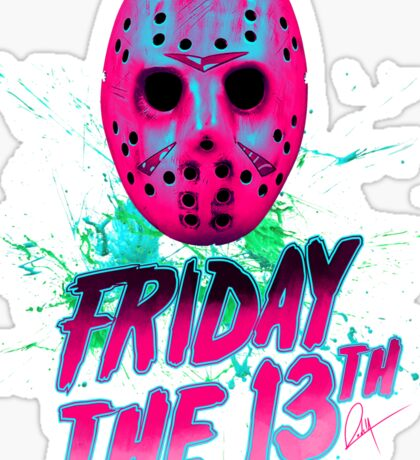 FRIDAY THE 13TH Neon V Sticker