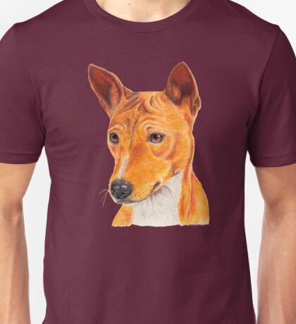 Basenji - color tan. African dogbreed Unisex T-Shirt