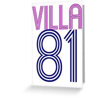 Aston Villa Greeting Card