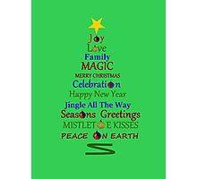 Holiday Tree - Green Photographic Print