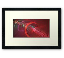 Red Turbine Framed Print