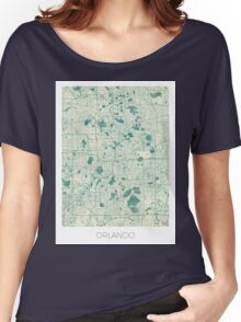 Orlando Map Blue Vintage Women's Relaxed Fit T-Shirt