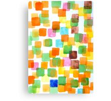 First Squares Pattern Canvas Print