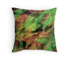 Abstract #9 - leaves Throw Pillow