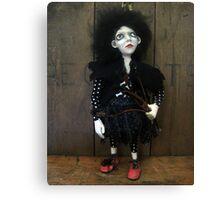 Posey the Goth Halloween Florist Art figure art doll ooak sculpture Canvas Print