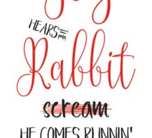 The Rabbit and the Fox (Lettering) Sticker
